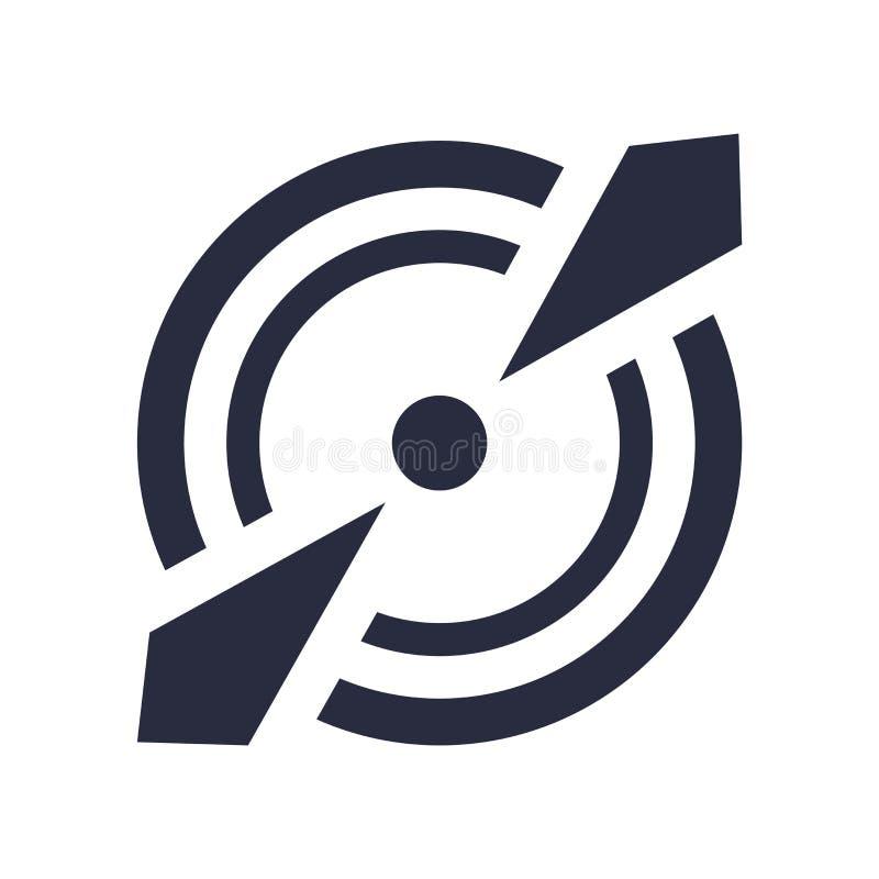 Cel ikony wektoru znak i symbol odizolowywający na białym tle, celu loga pojęcie ilustracja wektor