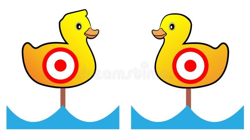 Cel kaczki mknący pasmo royalty ilustracja