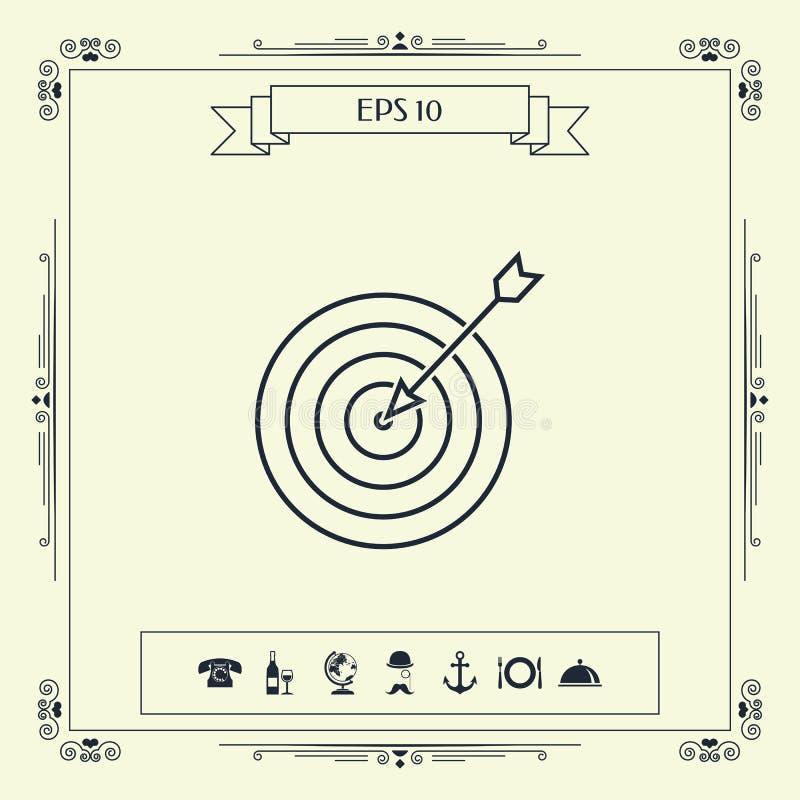 Cel, linii bramkowej ikona ilustracji