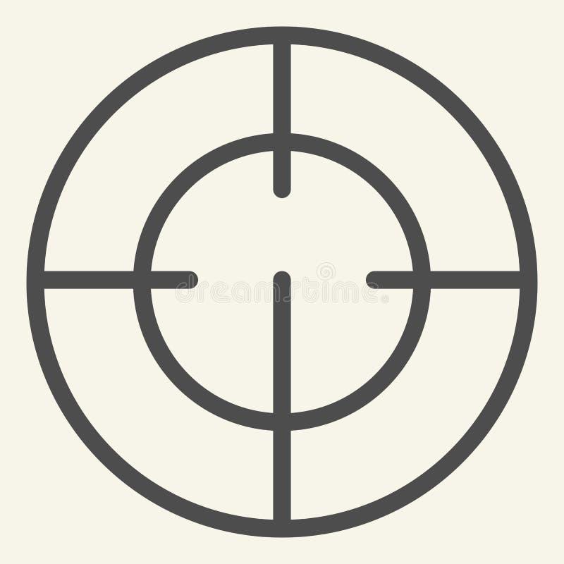 Cel linii ikona Ostrości wektorowa ilustracja odizolowywająca na bielu Bramkowy konturu stylu projekt, projektujący dla sieci i a ilustracja wektor