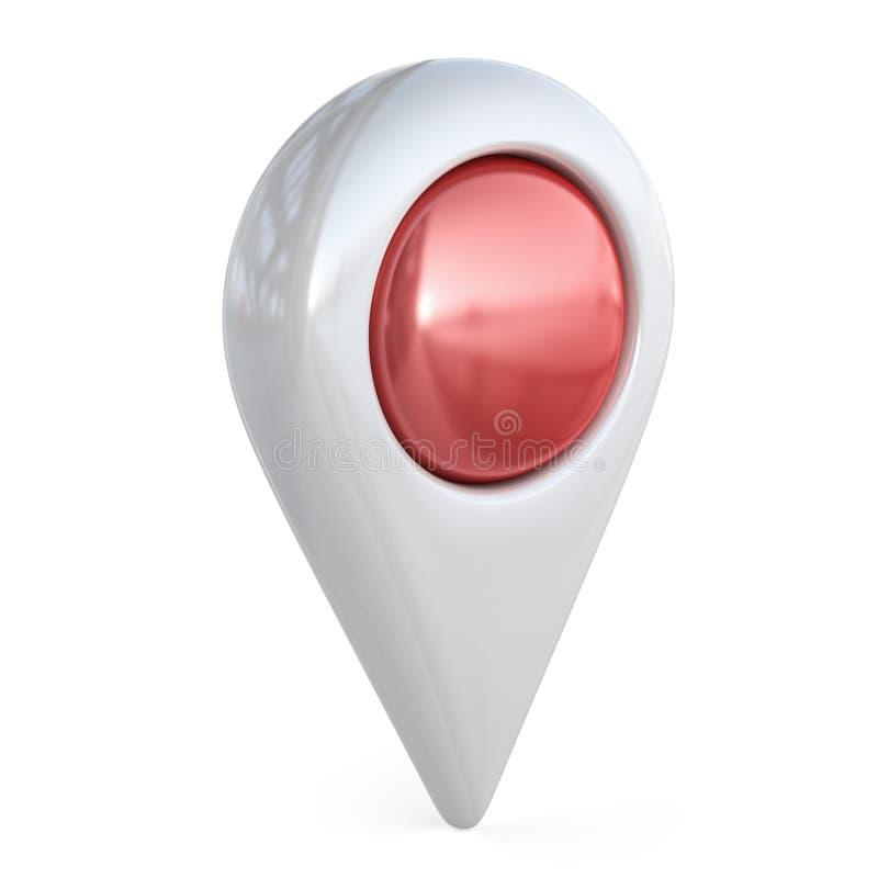 Cel mapy pointer GPS lokalizuje, 3D ikona zdjęcie royalty free