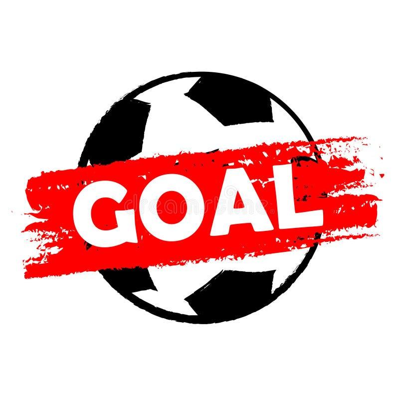 Cel nad piłki nożnej piłką, rysujący sztandar ilustracji