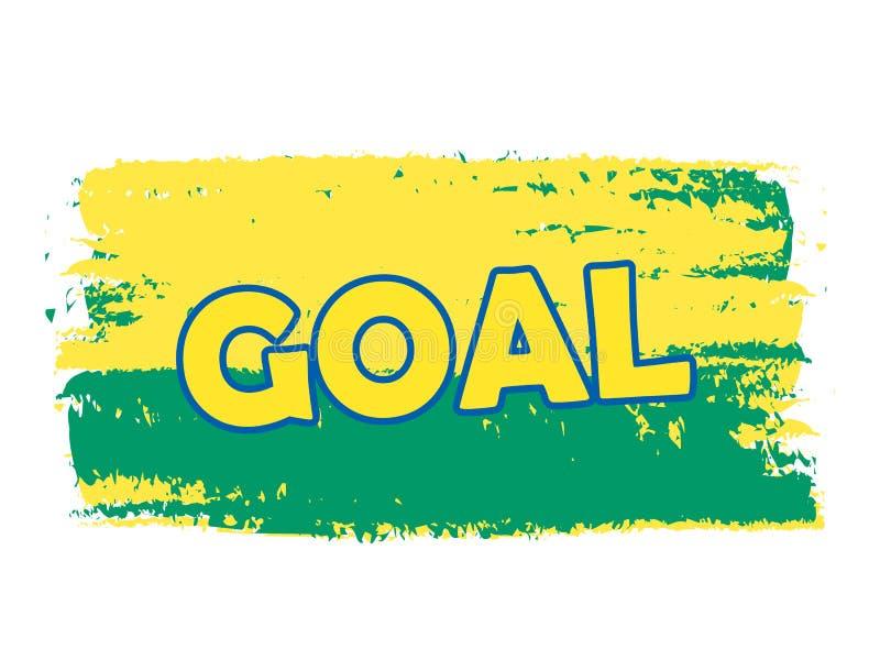 Cel nad zielonymi żółtymi Brazylijskimi kolorami, rysujący sztandar royalty ilustracja