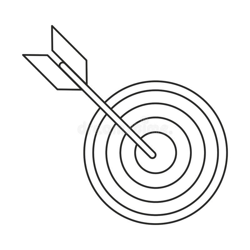 cel strategii strzałkowatego rynku cienka linia ilustracja wektor