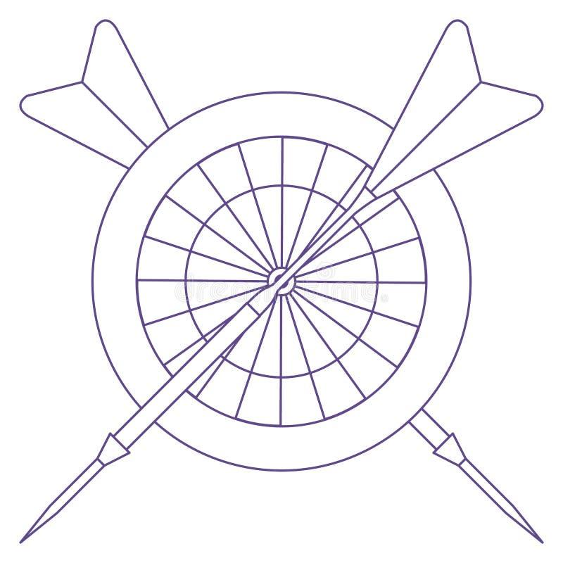 Cel, strzały dla strzałek Bawi się temat royalty ilustracja