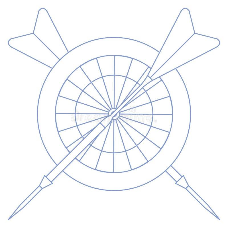 Cel, strzały dla strzałek Bawi się temat ilustracji