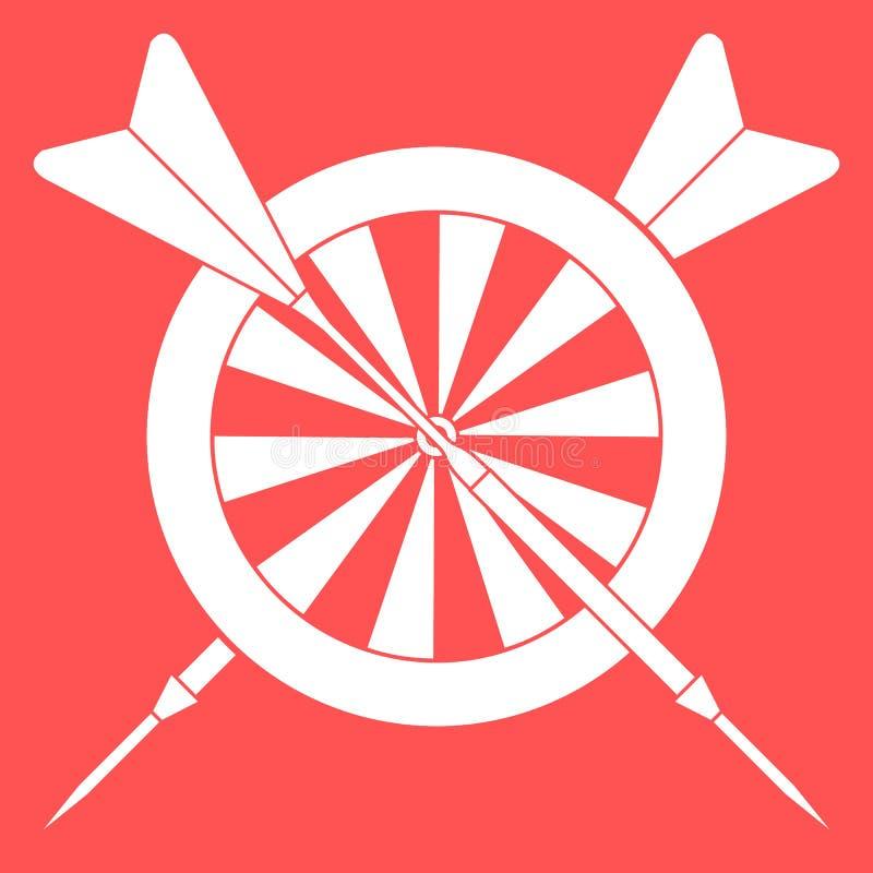 Cel, strzały dla strzałek Bawi się temat ilustracja wektor