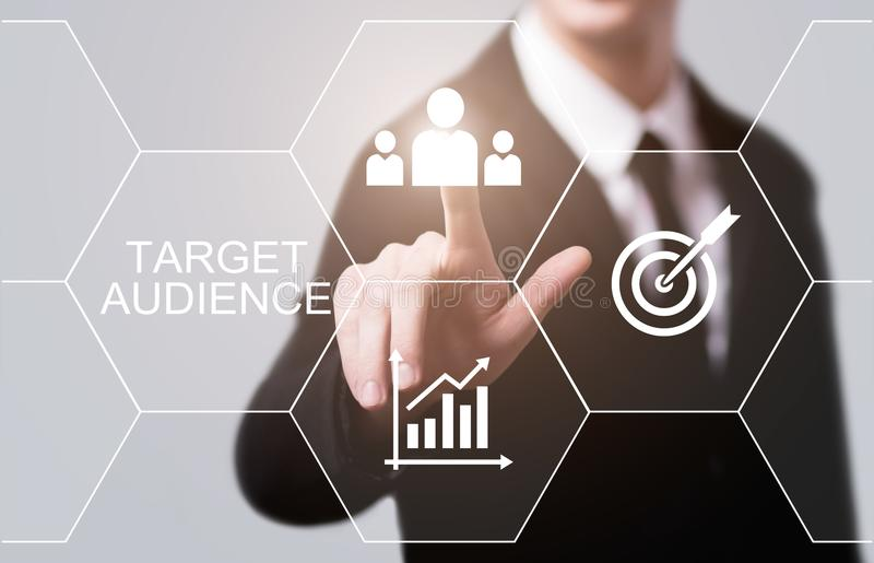 Cel widowni technologii Marketingowy Internetowy Biznesowy pojęcie obrazy royalty free