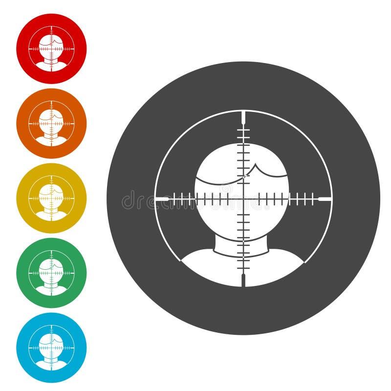 Cel widownia, użytkownika celu ikona ilustracji