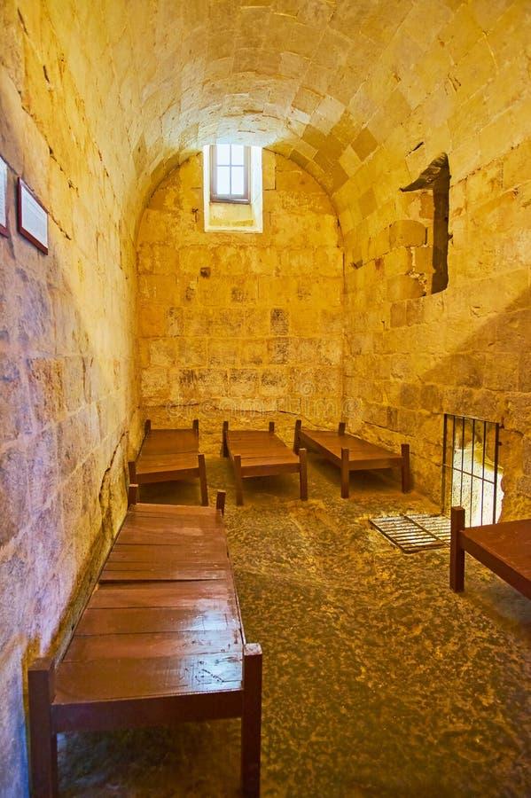 Cela więzienna inkwizytora ` s pałac, Birgu, Malta zdjęcie stock