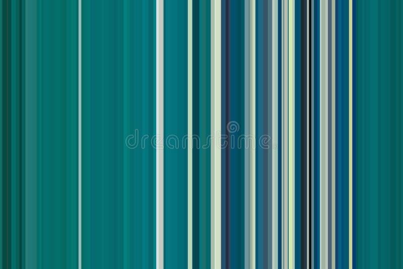 Celadon, turkoois, aquamarijnoverzees, oceaan kleurrijk naadloos strepenpatroon De abstracte achtergrond van de Illustratie Modie royalty-vrije illustratie