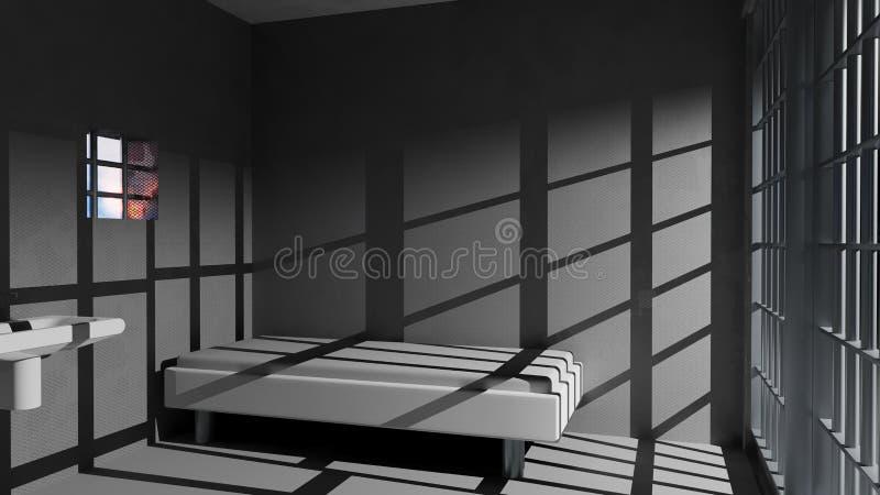 Celda de prisión stock de ilustración