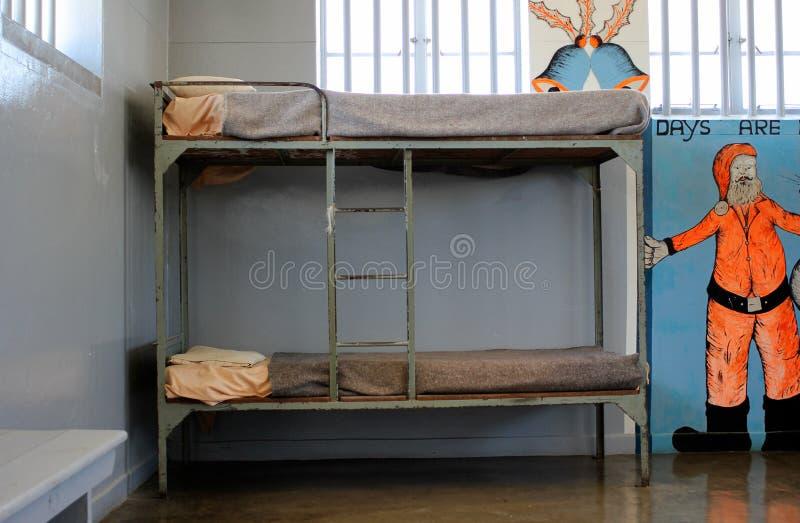 Celda de prisión de la prisión de la isla de Robben fotografía de archivo libre de regalías
