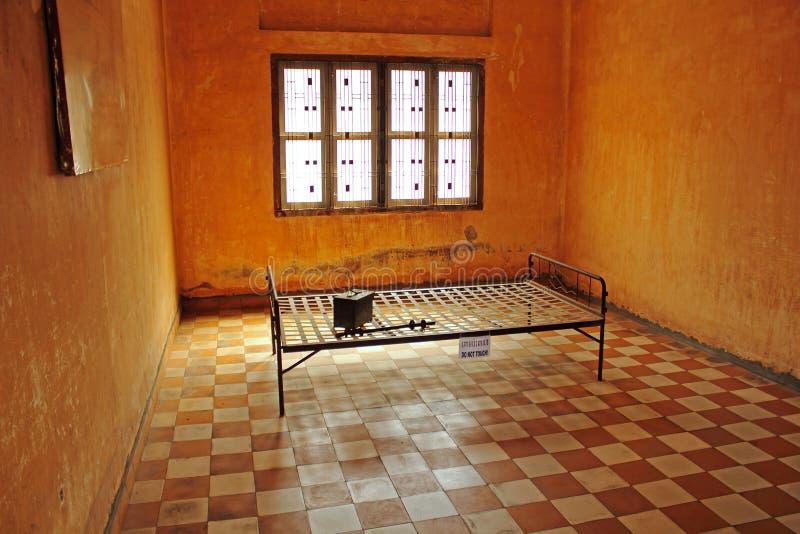 Celda de prisión del colorete del Khmer foto de archivo libre de regalías