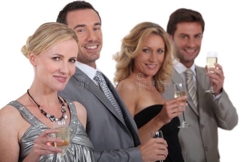Download Celebração foto de stock. Imagem de vestidos, feliz, amigos - 26503084