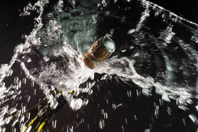 Celebração aberta de Champagne imagem de stock royalty free