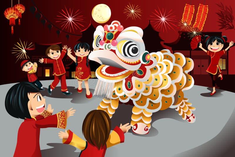 Celebração chinesa do ano novo ilustração royalty free