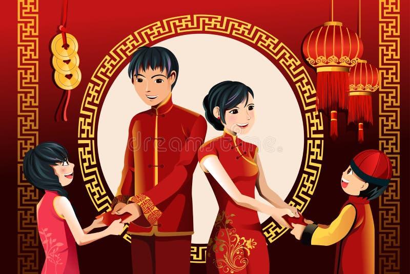 Celebração chinesa do ano novo ilustração do vetor