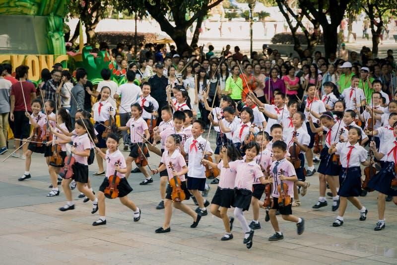 Celebração chinesa dos alunos