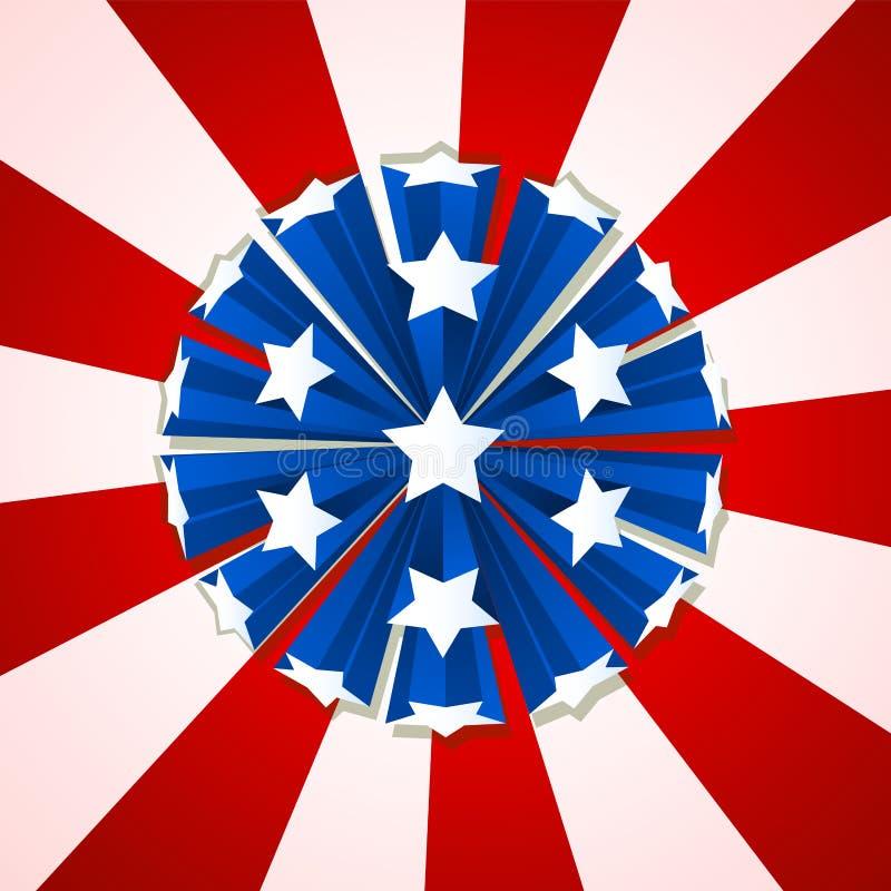 Celebração com fogo de artifício da estrela Estrelas e linhas ilustração do vetor do projeto da bandeira ilustração do vetor