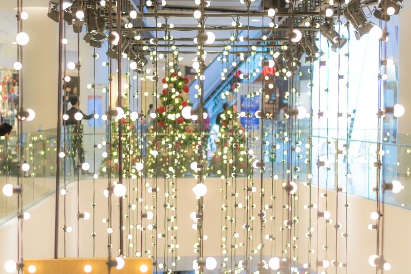 Celebração da decoração da luz da lâmpada foto de stock