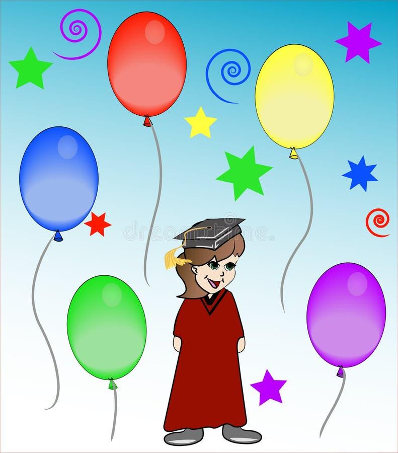 Celebração da graduação ilustração royalty free