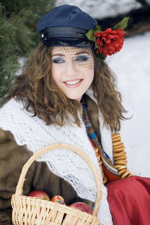 Celebração da mola do russo foto de stock