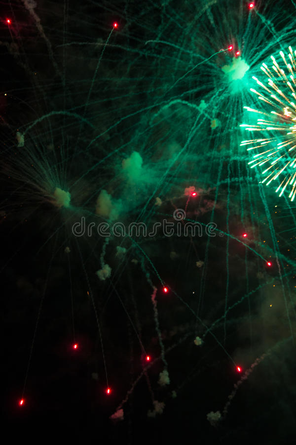 Celebração da noite foto de stock