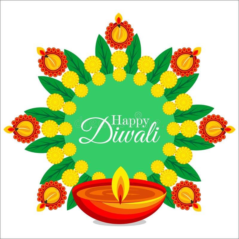 Celebração de Diwali na ilustração criativa do diwali feliz de india ilustração do vetor