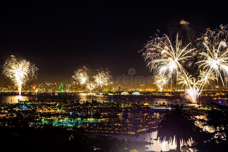 Celebração de Fireworsk fotos de stock