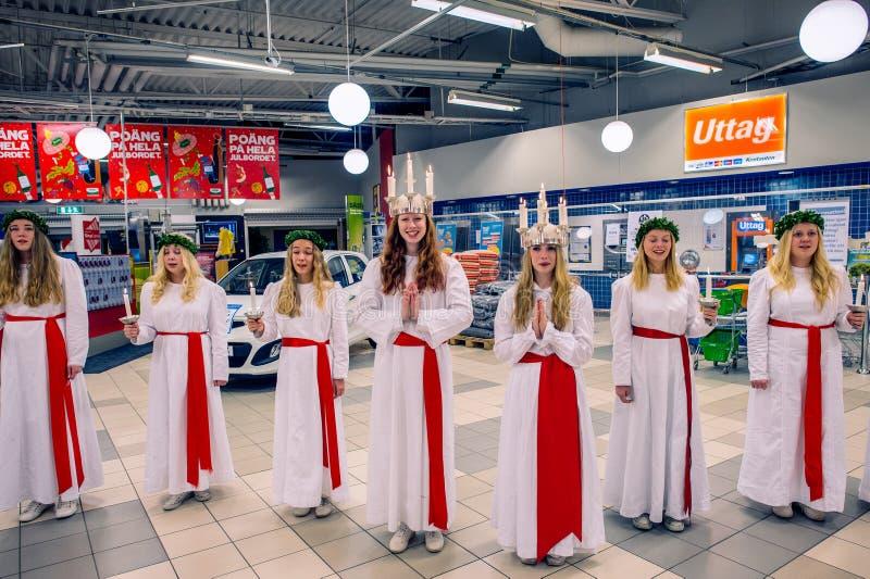 Celebração de Saint Lucy na Suécia imagem de stock royalty free