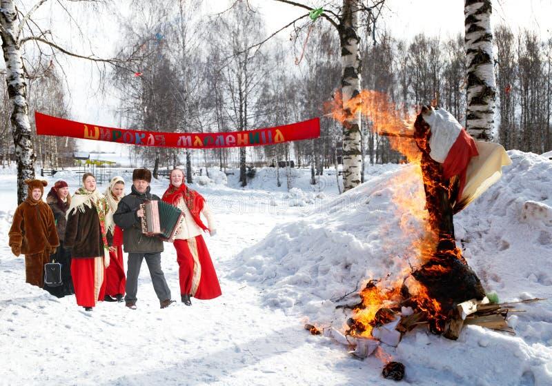 Celebração de Shrovetide imagem de stock royalty free