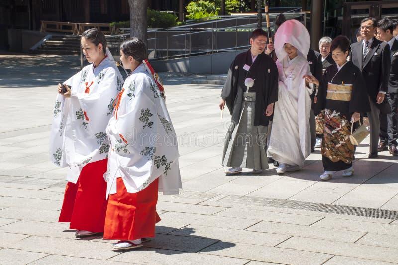 Celebração De Um Casamento Japonês Tradicional Foto de Stock Editorial