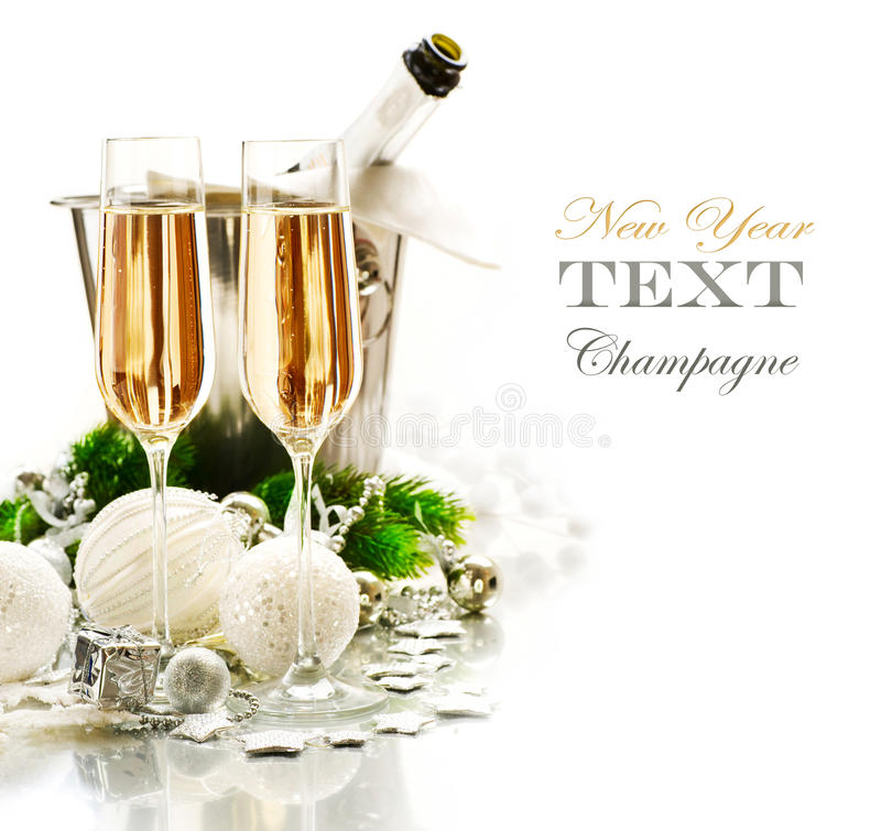 Celebração do ano novo e do Natal fotografia de stock