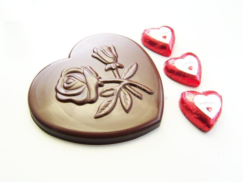 Celebração do chocolate do Valentim imagens de stock