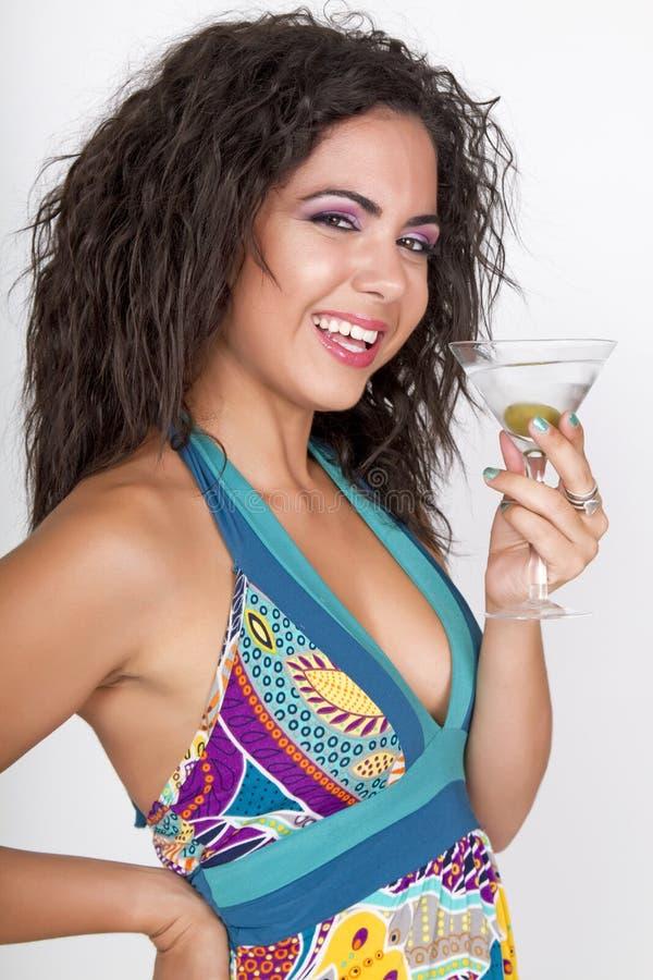 Celebração do cocktail da menina de partido do verão imagem de stock royalty free