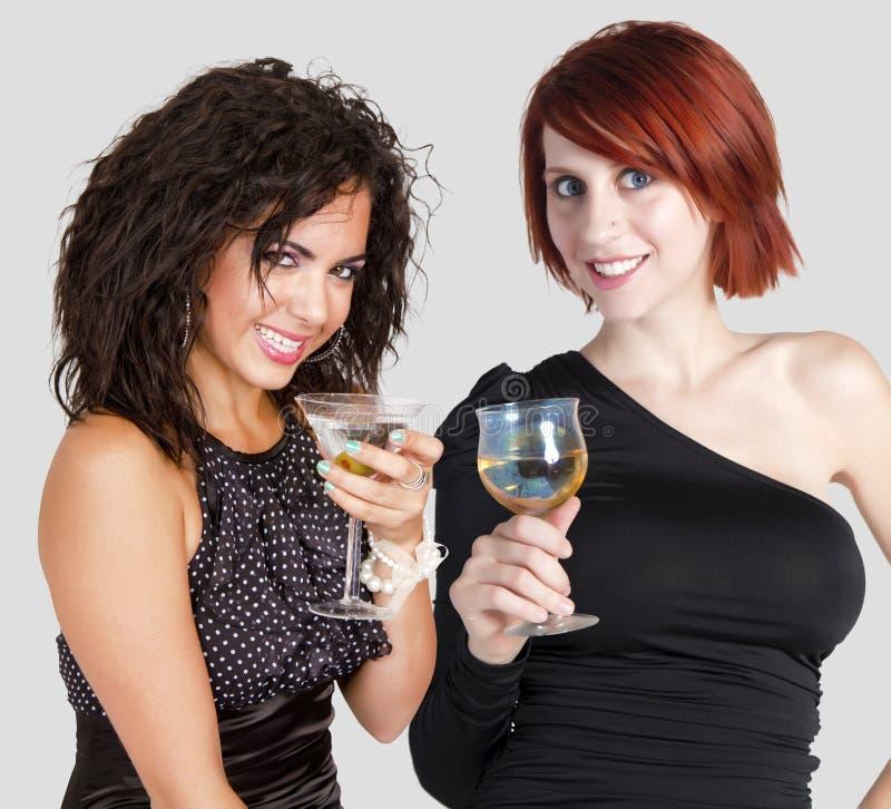 Celebração do cocktail do ano novo feliz fotografia de stock
