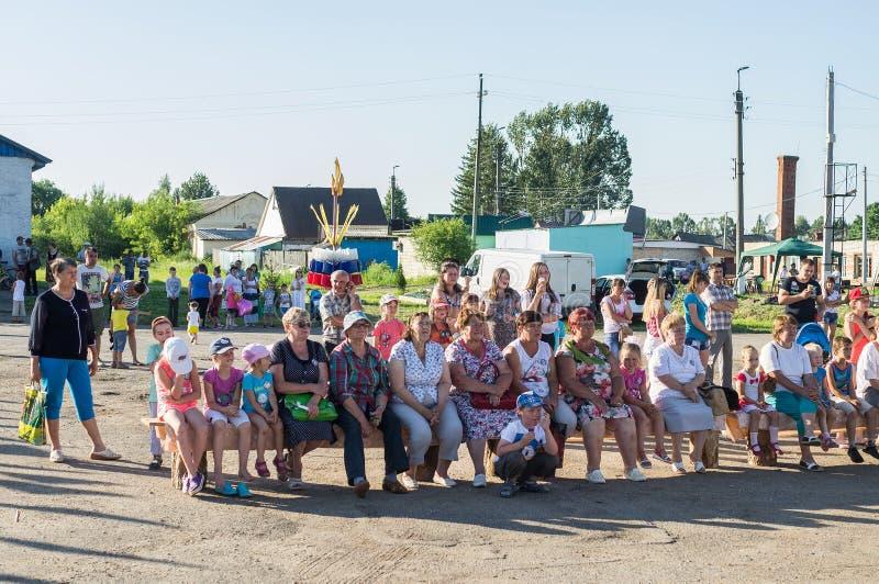 A celebração do dia da juventude na região de Kaluga em Rússia o 27 de junho de 2016 fotos de stock royalty free
