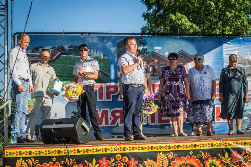 A celebração do dia da juventude na região de Kaluga em Rússia o 27 de junho de 2016 imagem de stock
