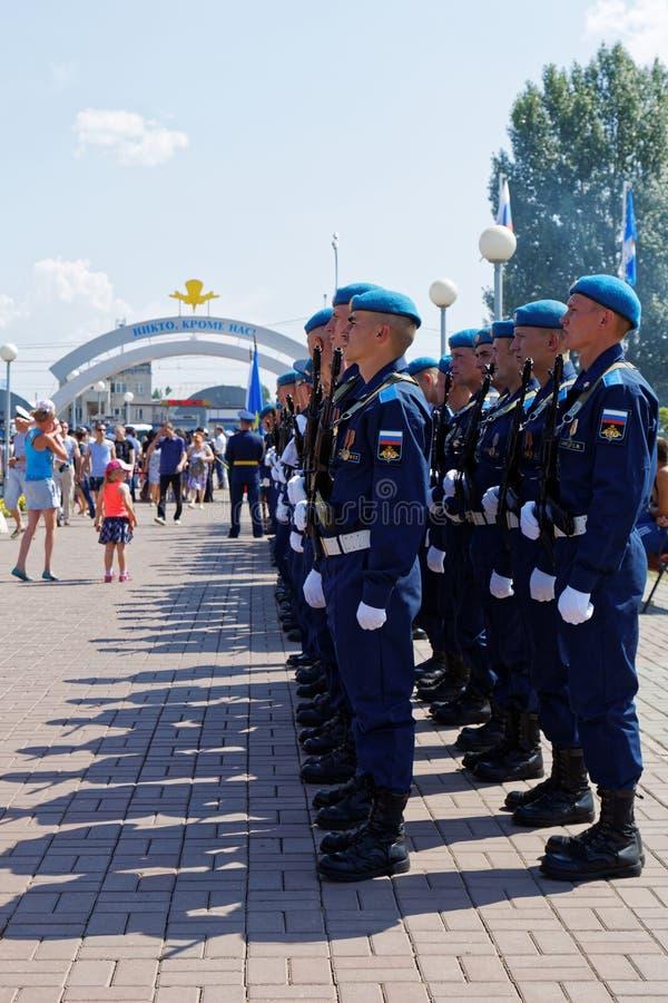Celebração do dia das forças transportadas por via aérea do russo fotografia de stock royalty free