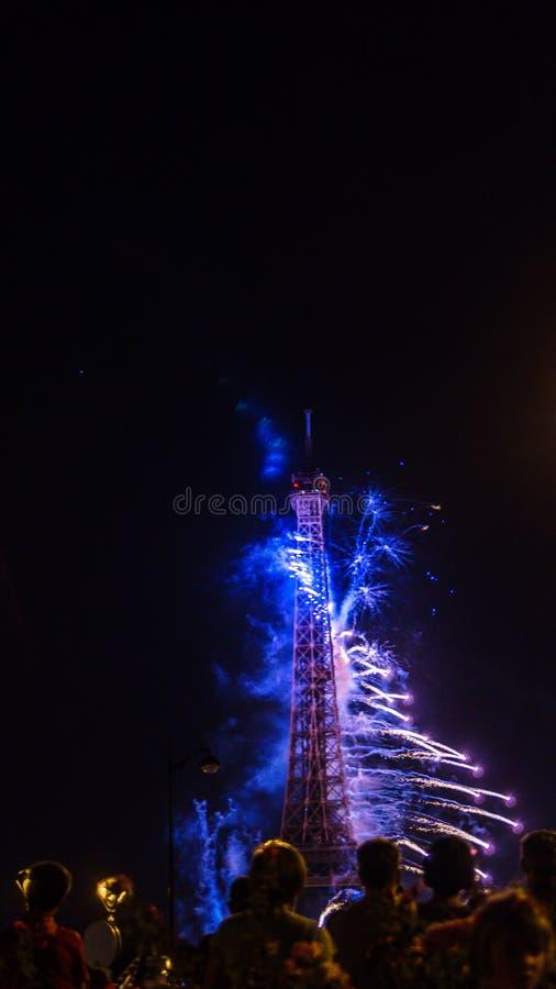 Celebração do dia de Bastille fotografia de stock
