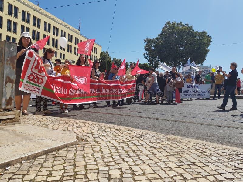 Celebração do dia dos trabalhadores no pracade Martin Monize fotografia de stock