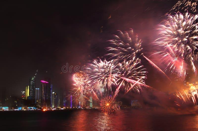 Celebração do dia nacional de Qatar fotografia de stock royalty free