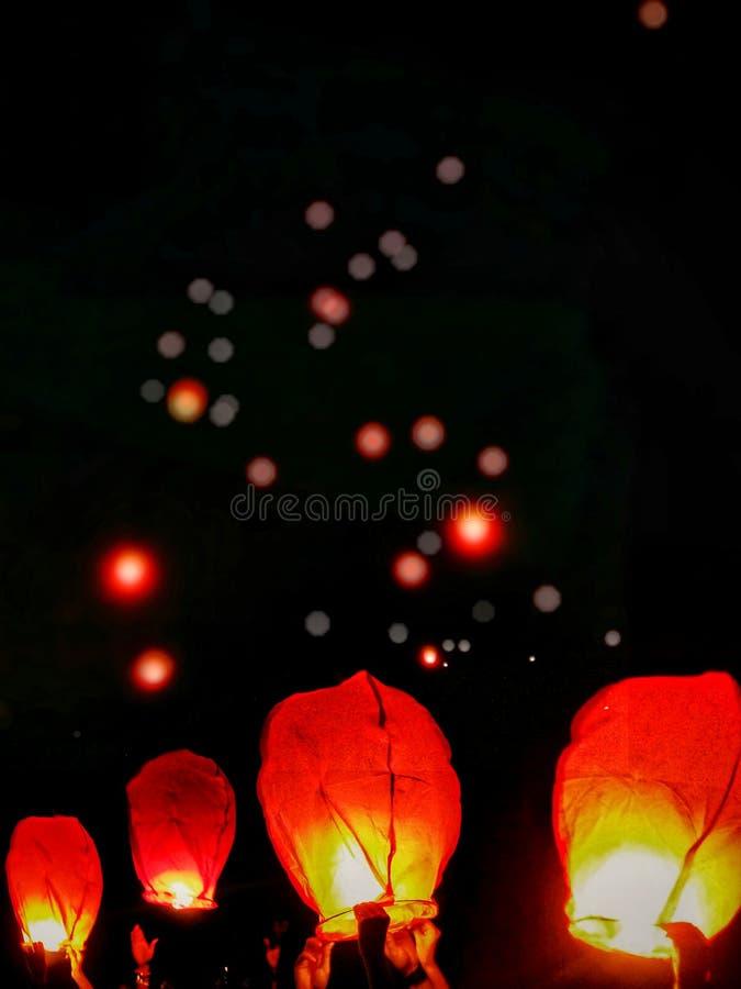 Celebração do festival do Meados de-outono foto de stock