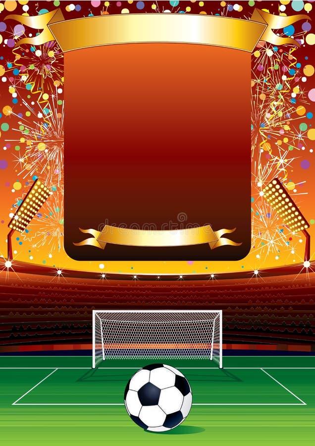 Celebração do futebol ilustração stock