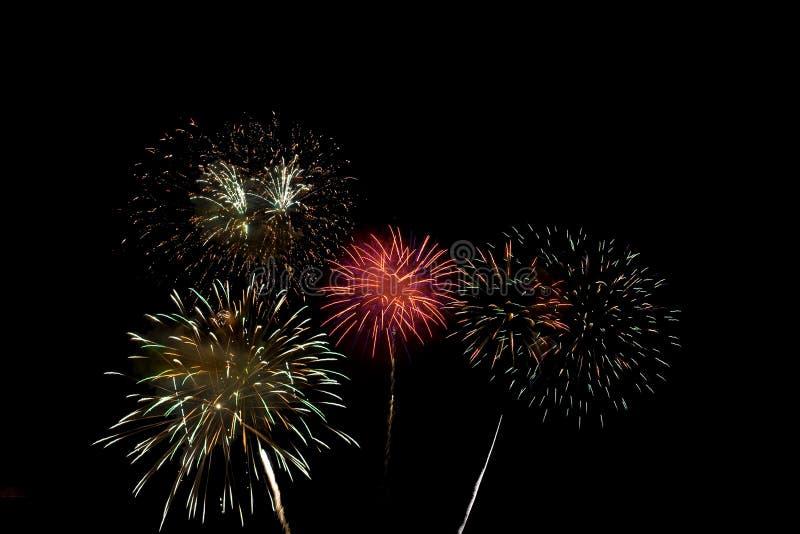 Celebração dos fogos-de-artifício fotos de stock