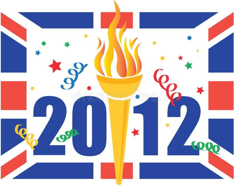 Celebração dos Jogos Olímpicos de Londres 2012 ilustração do vetor