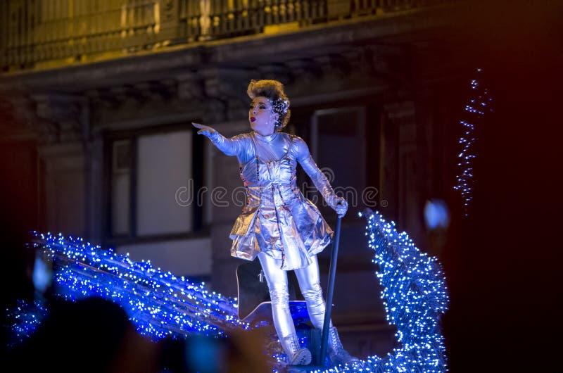 Celebração dos reis dos três Reis Magos na Espanha foto de stock royalty free