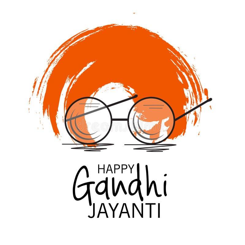 Celebração feliz de Gandhi Jayanti ilustração do vetor