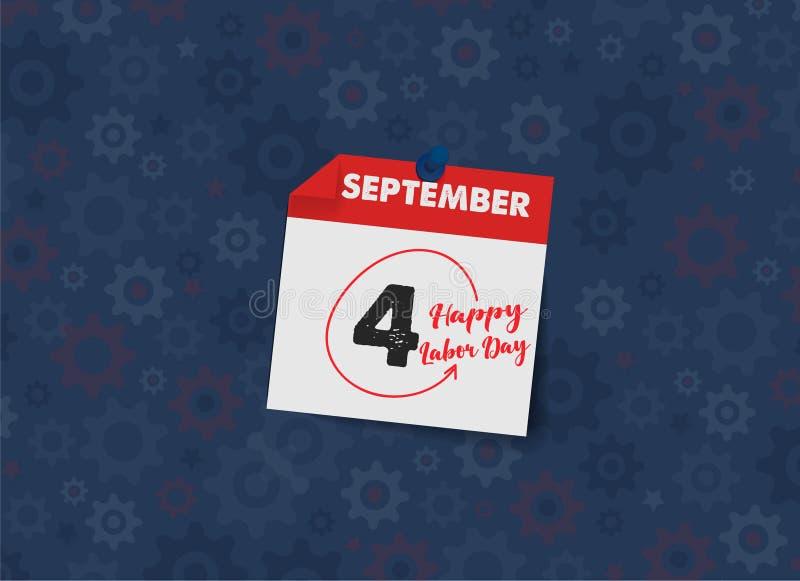 Celebração feliz do Dia do Trabalhador Molde feliz do cartão ou do cartaz ou do inseto do Dia do Trabalhador Ilustra??o feliz do  ilustração do vetor